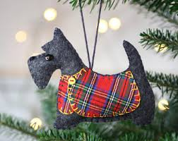 scottie ornament felt ornament scottie