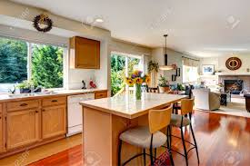 White Kitchen Cabinets White Appliances by Kitchen Area With Honey Color Cabinets White Appliances And