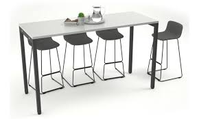 Black Bar Table Counter Height Office Cafeteria Bar Table Black Leg Office