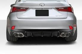 lexus is350 custom duraflex is350 is250 am design rear diffuser 1 pc f sport for