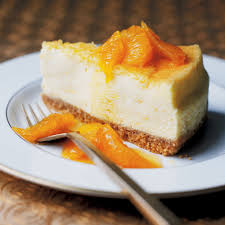 Lemon Cheesecake Decoration Baked Orange Cheesecake With Caramelised Oranges Woman And Home