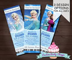 frozen printable movie ticket invitation custom frozen invitation