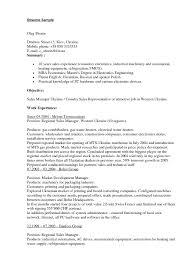 Download Work Experience Resume Haadyaooverbayresort Com by Download Fmcg Resume Sample Haadyaooverbayresort Com