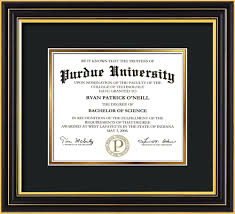 michigan state diploma frame purdue diploma frame satin black no embossing black on