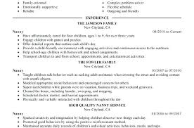 the best resume exles resume nanny resume exles