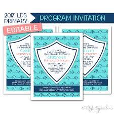 sacrament program invitation lds primary 2017 theme