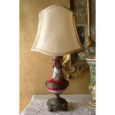 Antique Porcelain Table Lamps Antique French Paris Gold Bronze Porcelain Table Lamp W Parchment