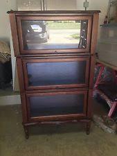 glass door bookcase ebay