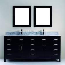 75 inch double sink bathroom vanity with marble top in espresso