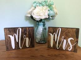 mr and mrs signs rustic wedding decor wedding signs mr and