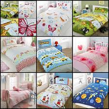 Single Duvet Covers And Matching Curtains New Kids Children Boys Girls Duvet Cover Sets Single Double