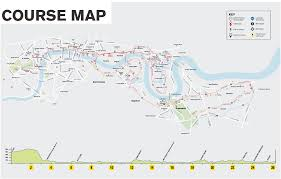 Nyc Marathon Route Map Course Map 2016 Victa The London Underground Map Has Been Given A