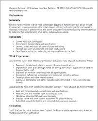 Welder Resumes Examples Sample Welder Resume Welder Resume Samples Sample Welder Resume
