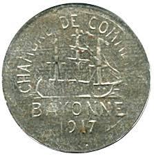 chambre des commerces bayonne 10 centimes chambre de commerce 1917 bayonne 64