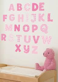 girls pink letters stickers wall murals ireland girls pink letter stickers for names wall decals by www wallstickers ie