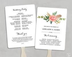 wedding program kits do it yourself printable wedding program fan template fan wedding programs