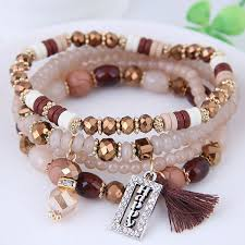 gemstone bead bracelet images Women jewelry tassel pendant gemstone crystal beads glass pearl jpg