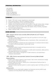psychiatric nurse resume