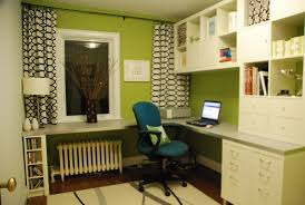 Wall Units With Storage Green And White Home Office Present Large L Shaped Desk With