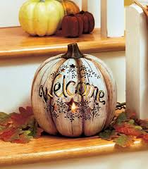 country welcome lighted pumpkin thanksgiving pumpkin ideas and