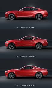 mustang size 2015 mustang from sketch to production car design