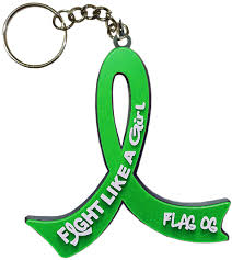 it s a girl ribbon fight like a girl keychain key chain for kidney cancer bile duct
