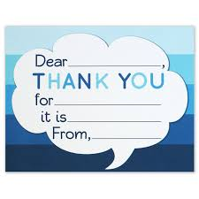thank you card size thank you note cards kids fill in the blank style