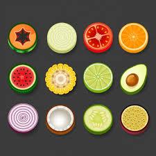 imagenes gratis de frutas y verduras fruta y verdura redonda descargar vectores gratis