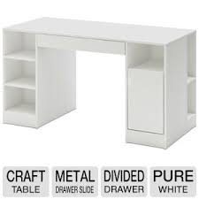South Shore Computer Desk South Shore Furniture Crea Craft Table Pure White 7550727 At