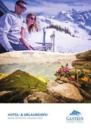 Bad Gastein Skigebiet Gastein Unterkunftsverzeichnis 2014 2015 By Gastein Fasziniert