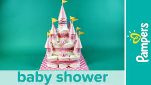 princess baby shower how to make a castle diaper cake pampers