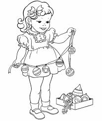 decorations christmas coloring pages girls