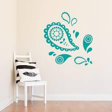 teenage room makeover wallums wall decor pretty paisley wall decal