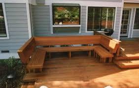 deck seating ideas built doherty house build custom deck