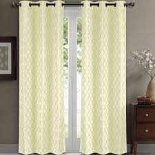 Contemporary Drapery Panels Amazon Com Pair Of Two Top Grommet Blackout Jacquard Curtain