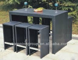 Rattan Bar Table Outdoor Garden Poly Rattan Bar Table And Chair Patio Rattan