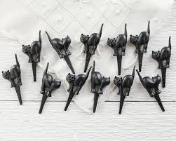 halloween cake cases halloween cupcake picks 12 plastic miniature black cats