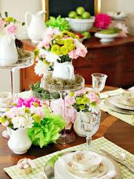 colorful spring table setting hgtv