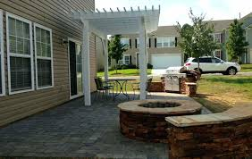 patio ideas built in fire pit kits fire pit and wood boxes fire