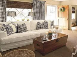 Cottage Style Sofa rustic cottage style living rooms silver iron legs brown fabric