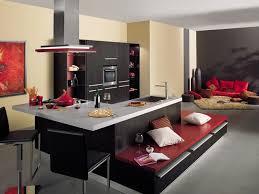cuisine ouverte avec bar modele de cuisine americaine avec bar 2 chaios com