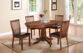 Round To Oval Dining Table Broadway Round Oval Dining Table In Acacia Brown By Winners Only