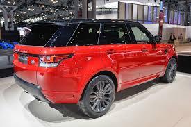 range rover modified red automotiveblogz land rover range rover sport hst new york 2015