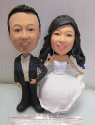 personalized cake topper personalized bobblehead wedding cake toppers wedding