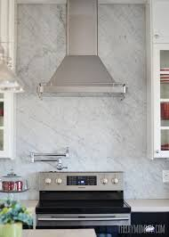 A Marble Panel Backsplash For Our DIY Kitchen The DIY Mommy - Marble backsplashes