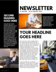 design a newsletter free templates postermywall