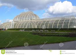 victorian glass house at kew gardens editorial stock photo