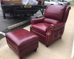 tilt back chair with ottoman hancock moore westwood tilt back chair and ottoman 2062 in