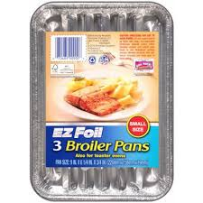 Broiler Pan For Toaster Oven Hefty Ez Foil Broiler Pan 9 X 6 1 4 X 3 4 In 3 Pk Model