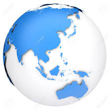 asia globe map map of asia and australia major tourist attractions maps
